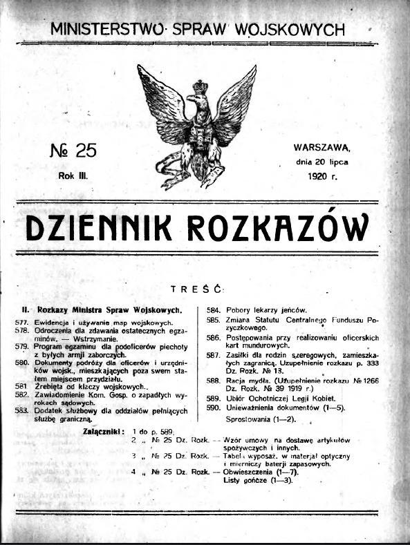 1920 Nr 25 Ochotnicza Legia Kobiet