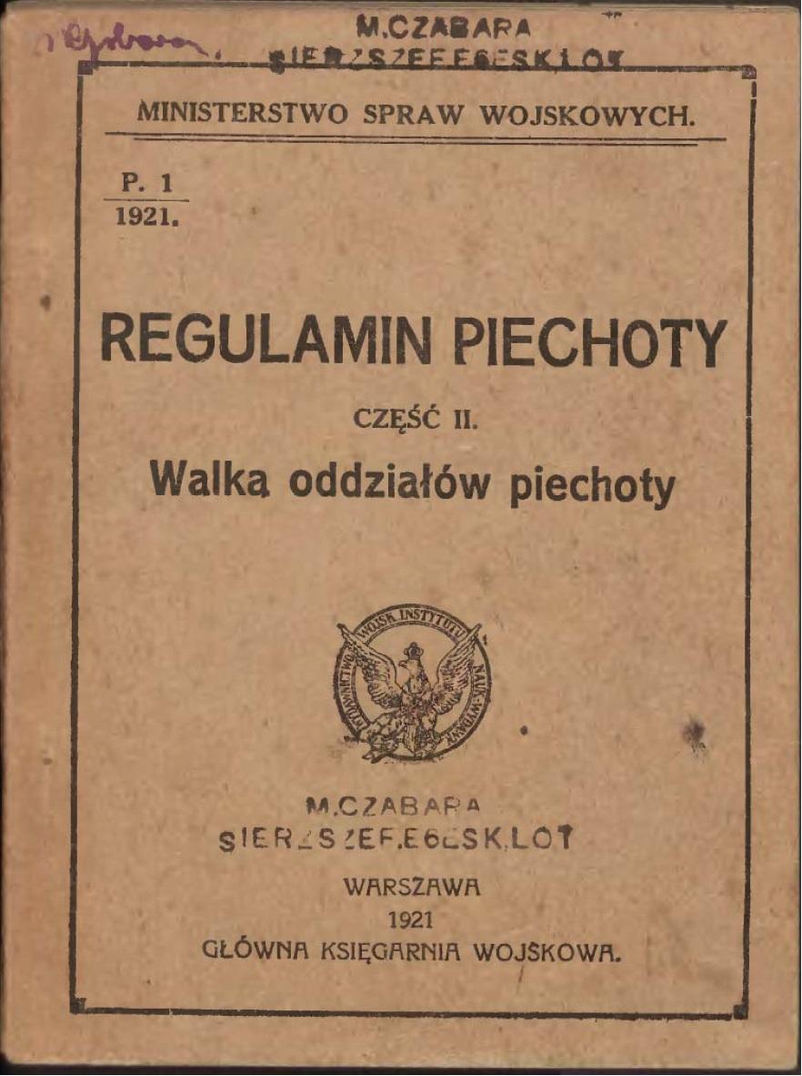 Regulamin piechoty r 1921