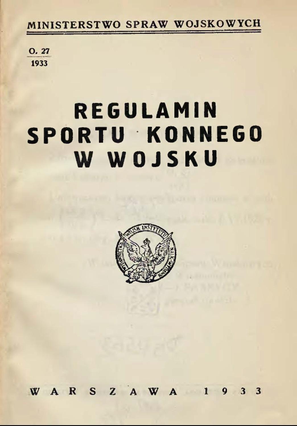 Regulamin sportu konnego w wojsku